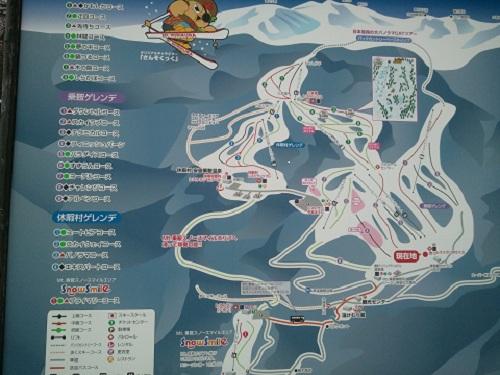 乗鞍高原スキー場コースマップ