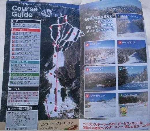 野麦峠コースマップ