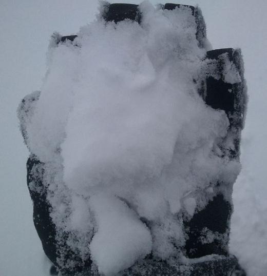 西館山スキー場で撮った雪の写真