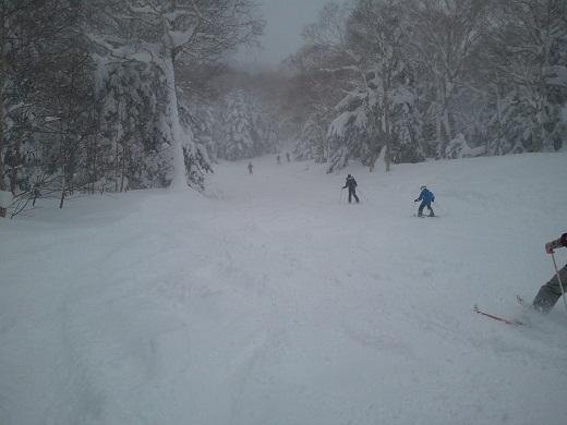 東館山スキー場の林間コース