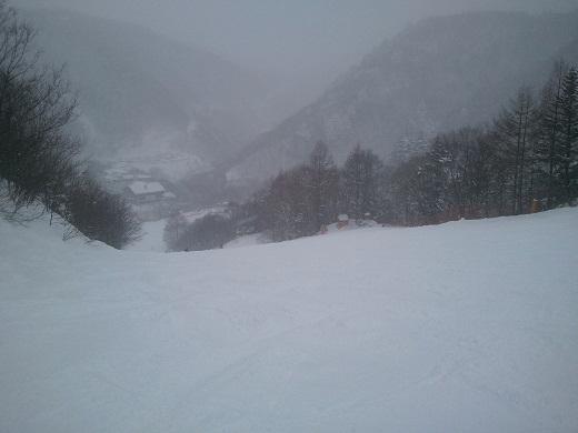 西館山大回転コースの最後の方の斜面