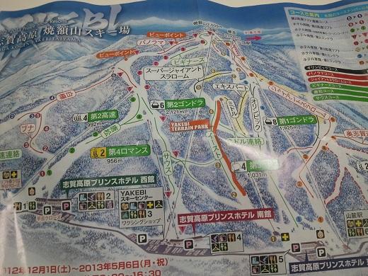 焼額山コースマップ