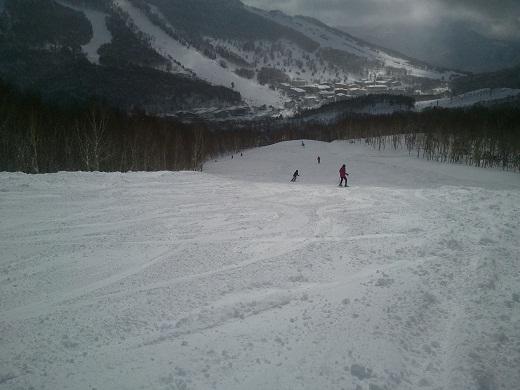 白樺コース途中