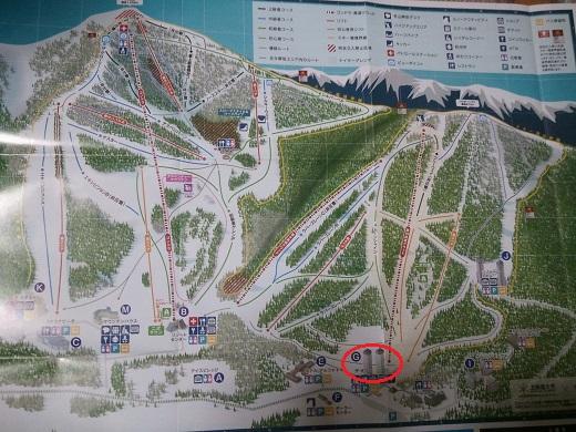 トマムスキー場のゲレンデマップ