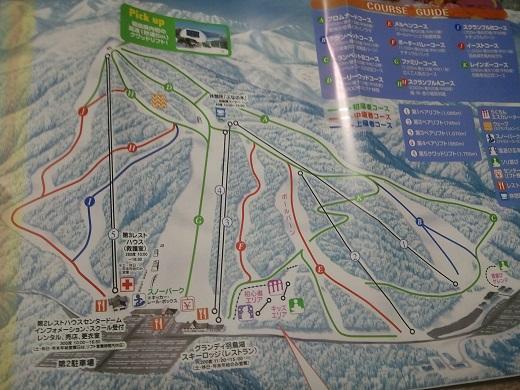 グランディ羽鳥湖スキーリゾートのゲレンデマップ