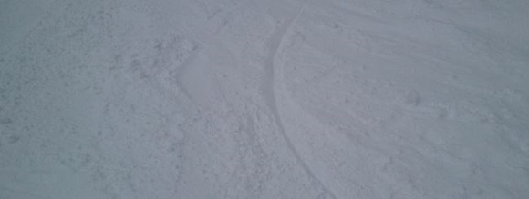 パノラマスキー場の滑った後の斜面の感じ