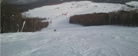安比高原スキー場のセカンド第2コース