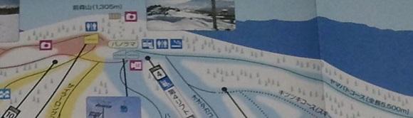 安比高原ゲレンデマップの山頂付近