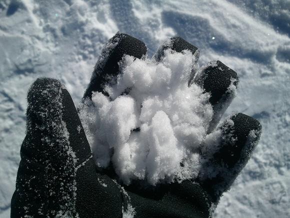 アサマ2000パークの雪の見た目(1月上旬、晴れ)