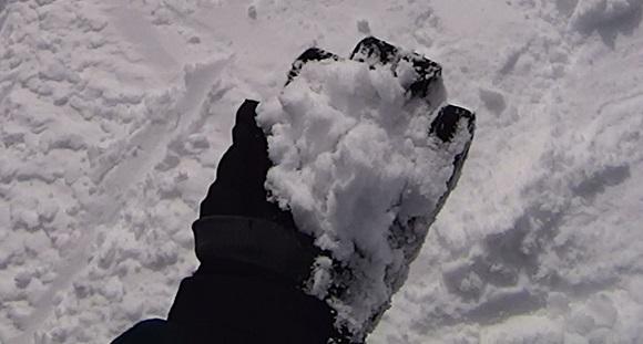 いいづなリゾートの雪の見た目