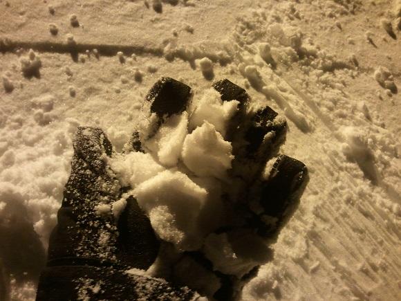 ルスツのナイターの雪の見た目