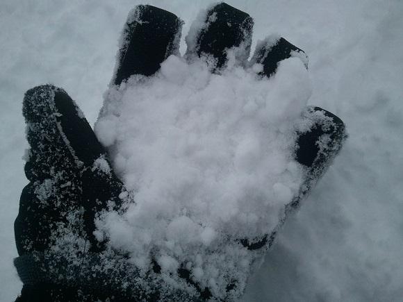 ルスツの雪の見た目
