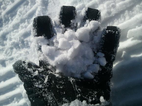 晴れの日のルスツの雪の見た目