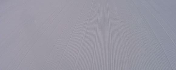 曇りの日の整地されているイーストビバルディコースの見た目
