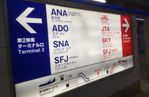 羽田空港のターミナル案内板