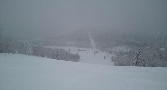 滑った日のキロロスキー場の雪の降り方