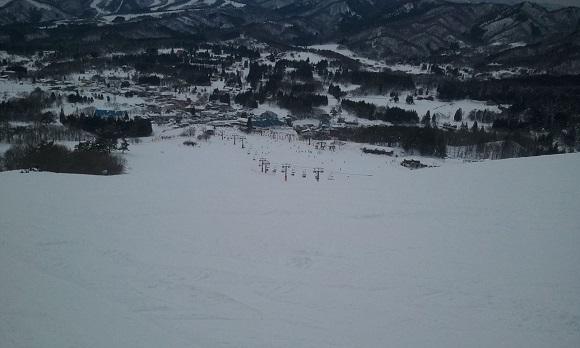 ひるがの高原スキー場の幅広コース