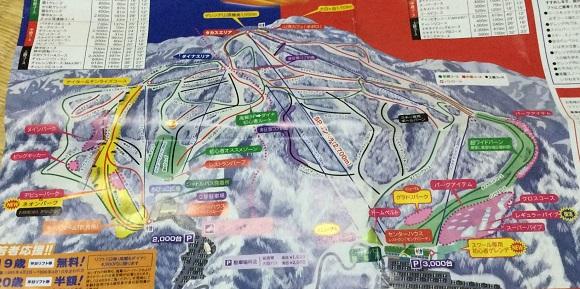 高鷲スノーパーク&ダイナランドのゲレンデマップ