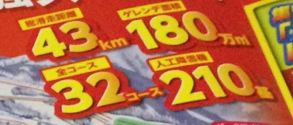 高鷲スノーパーク&ダイナランドのコース数・総滑走距離・ゲレンデ面積など