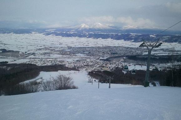 北海道のスキー場の景色