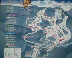 乗鞍高原温泉スキー場のゲレンデマップ