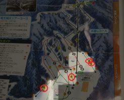 竜王スキーパークのナイターで滑れるコース