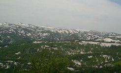 月山スキー場に行った時の途中の景色