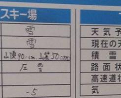 下倉スキー場・パノラマスキー場で滑った日の基本情報