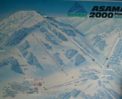 アサマ2000パークのゲレンデマップ