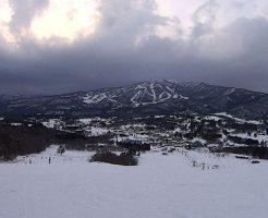 ひるがの高原スキー場のゲレンデからの景色