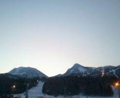 夕方のスキー場